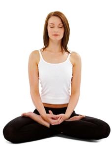 Woman meditating in pregnancy